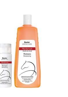 Für Geschmeidigkeit und Glanz: Pferdemark-Shampoo von Basler, 3 Euro