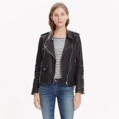 Washed Leather Swing Jacket