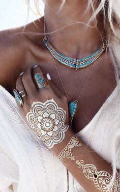 Turquoise & gold http://papasteves.com/blogs/news
