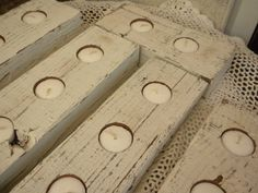 6 Shabby Chic Candle tealite Holders Perfect for by craftsbymerle, $25.00
