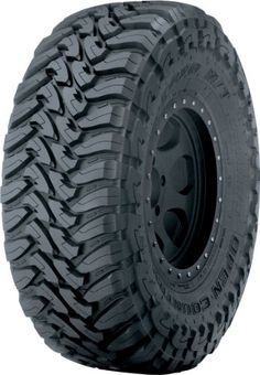Toyo Tires Open Country M/T Mud-Terrain Tire Features: Aggressive, attack tread design with hook shaped blocks Open, scalloped shoulder blocks Over-the-shoulder tread Deep siping in the tread blocks High turn-up, polyester casing Truck Tyres, Truck Wheels, 4x4 Tires, Rims And Tires, Wheels And Tires, Cheap Jeeps, Pirelli, Off Road Tires, Tires For Sale