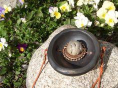 Boho style necklace, woman Jewelry, Necklaces & Pendants, black pendant    #Handmade #BOHO