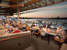 Wharfside Restaurant & Patio Bar in Point Pleasant Beach NJ. Only a 15 minute drive from Ocean Beach. Excellent!