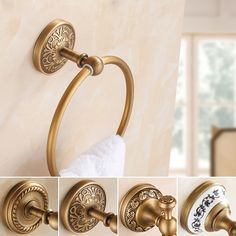 (29.93$)  Buy here - http://aij3o.worlditems.win/all/product.php?id=32759630955 - Free Shipping  Antique Brass Towel Ring, Towel Bar ,Towel Holder Bathroom Accessories Home Decoration