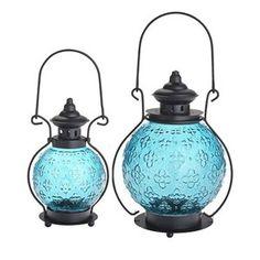 Pier1 Medallion Glass Lanterns