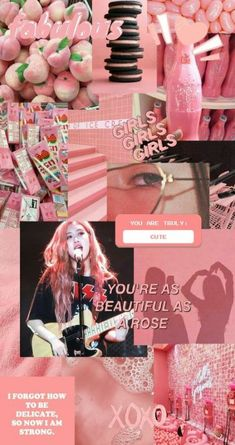 Aesthetic Wallpaper Collage Blackpink 68 New Ideas Rose Pink Wallpaper, Lisa Blackpink Wallpaper, Pink Wallpaper Iphone, Trendy Wallpaper, Retro Wallpaper, Aesthetic Roses, Aesthetic Collage, Kpop Aesthetic, Rainbow Aesthetic