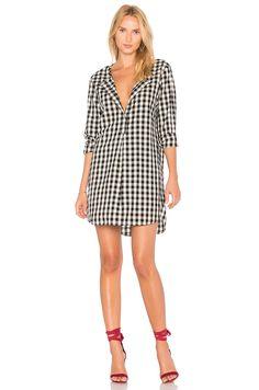 Stateside Oxford Shirting Dress in Black Checker | REVOLVE