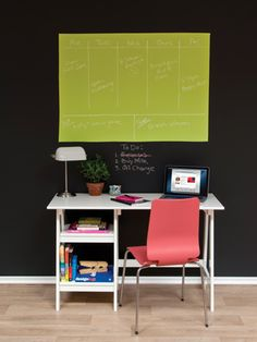 mark your calendar! color chalkboard paint is out now! I need ideas on what to do with my extra chalkboard paint. Colored Chalkboard Paint, Chalkboard Paint Projects, Black Chalkboard, Paint Calendar, Clayton Homes, Organisation Hacks, Office Organization, Black Rooms, Home Learning