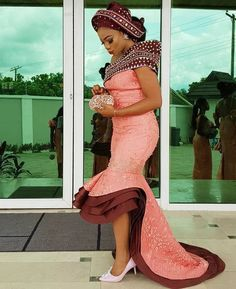 African Wedding Bants and African fashion - Reny styles African Lace Styles, African Lace Dresses, African Wedding Dress, Latest African Fashion Dresses, African Dresses For Women, African Print Fashion, African Attire, African Wear, African Women