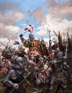 Castillon : la victoire de Charles VII contre Henri VI, Talbot et les Gascons Medieval Knight, Medieval Armor, Medieval Fantasy, Armadura Medieval, Templer, Knight Art, Landsknecht, Wars Of The Roses, Early Middle Ages