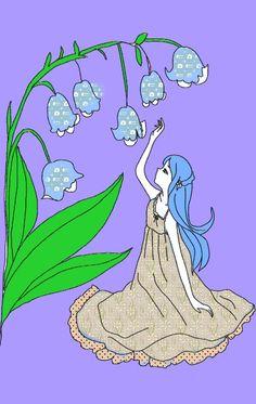 Blue hair girl...hihi...