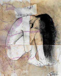 """Saatchi Art Artist Loui Jover; Drawing, """"the silence"""" <a class=""""pintag"""" href=""""/explore/art/"""" title=""""#art explore Pinterest"""">#art</a>"""