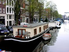 Canal Boat, with the inside renovated for a nice, loft-like feel