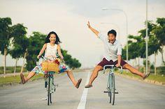 5 Ideas de utilería para la sesión de fotos: Bicis | El Blog de una Novia | #fotos #novios