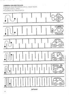 Fahrzeuge - Schreibvorerziehung