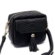 Simple Alligator Crocodile Leather Mini Small Women Crossbody bag Tassel Fringed Messenger Shoulder Bag Purse Handbag F40-848  #bag #fashion #backpack #bagshop #kids #WomenWallets #handbags #highschool #YLEY #shoulderbags #L09582 #Happy4Sales  #NewArrivals