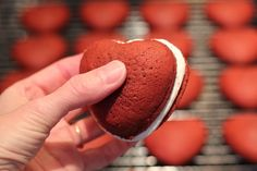Red Velvet Heart-Shaped Whoopie Pies for Valentines Day  Perfect!