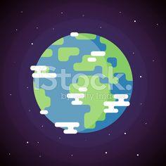 Planet Earth Icon. Vector Flat Illustration royalty-free stock vector art