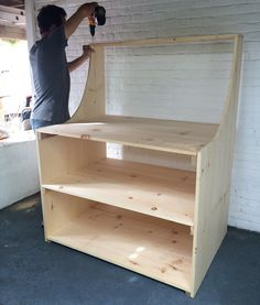 This monster outdoor work table/storage cabinet @rapid_ding_repair just built for me was inspired by @rogue_engineer's potting bench. All it needs is a couple cabinet doors and some stain and I get to fill it will all my spray paints extra wood pieces and tools!  . . . #DIY #doityourself #storage #pottingbench #workbench #outdoor #worktable #work #table #handmadebymeghan #stain #cabinet #build #wood #woodwork #woodworking de handmade_by_meghan