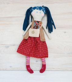 Handmade Doll Stuffed Rag Toy Cloth Doll Retro Frendly