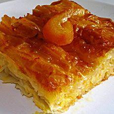 Πορτοκαλόπιτα με γιαούρτι - Portokalopita me giaourti - Greek Orange pie flavored with mastic