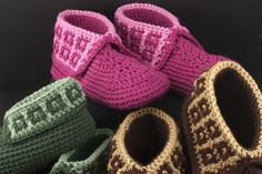 Family Slippers crochet pattern available at TheCrochetArchitect.com.