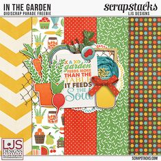 FREE May 2015 Digiscrap Parade Freebies - In the garden : LJS Designs [ 45 the participating designers ]