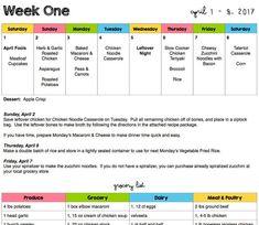 Weekly Grocery Lists, Weekly Menu Planning, Meal Planning, Chicken Cheese Casserole, Teriyaki Noodles, Dinner Menu, Monthly Menu, Mom Planner