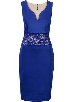 Kleid mit Spitze blau - BODYFLIRT boutique jetzt online bei bonprix.at ab ? 39,99 bestellen. Must-Have für jeden Kleiderschrank! Enganliegendes Kleid mit ...