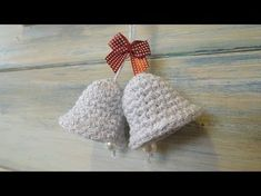 (crochet) How To - Crochet a Christmas Bell Decoration. Your support is appreciated, my Patreon page: . Christmas Bell crochet tutorial, day 2 of our December Advent Calendar treat on our website here: . where you can click and open a door a day to Crochet Christmas Decorations, Christmas Crochet Patterns, Crochet Christmas Ornaments, Holiday Crochet, Crochet Santa, Crochet Snowman, Mini Christmas Stockings, Christmas Jingles, Crochet Crafts