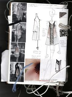 Fashion Designer's Sketchbook - design references, fashion sketches, swatches & development; the fashion design process; fashion portfolio // Crystal Padmore More Más