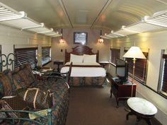 Private vintage rail car as my hotel room at the Chattanooga Choo Choo Hotel - ever so delightful!