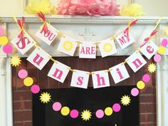 You are my sunshine, my only sunshine....... This banner would be perfect to hang for a Baby shower-birthday party or even in a childs room-