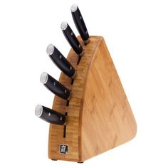 Yaxell Ran Series 6 Piece Knife Block Set - 67036 Global Knife Set, Global Knives, Swiss Army Pocket Knife, Best Pocket Knife, Knife Block Set, Knife Sets, Best Chefs Knife, Japanese Kitchen Knives, Knife Stand