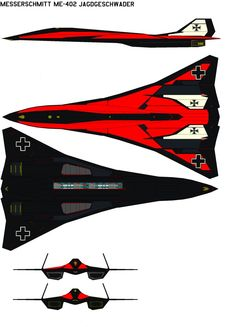 Messerschmitt black Ravens by on DeviantArt Spaceship Art, Spaceship Design, Spaceship Concept, Concept Ships, Stealth Aircraft, Fighter Aircraft, Fighter Jets, Luftwaffe, Military Jets