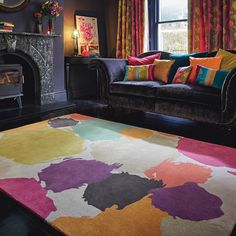 A bold and beautiful design with a multi-coloured colour palette that offers a spark of style that will last through the ages
