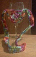 HAND CROCHETED Wine Glass Lanyard by LoomandHook on Etsy, $6.00