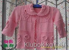 """Ажурный свитер и кофточка """"Нежный цветочек"""" для Вашей маленькой девочи!"""