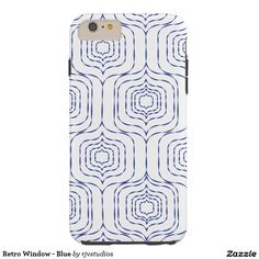 Retro Window - Blue Tough iPhone 6 Plus Case