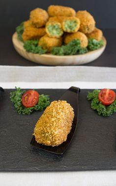 croquetas de col Kale (sin gluten)