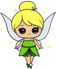 Tinker-bell kawaii - by draw so cute Kawaii Girl Drawings, Cute Disney Drawings, Cute Girl Drawing, Cartoon Drawings, Easy Drawings, People Drawings, Kawaii Disney, Disney Art, Arte Do Kawaii