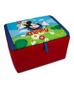 Another great find on #zulily! Mickey Mouse Clubhouse Upholstered Storage Box #zulilyfinds
