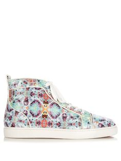 cd0e6d488df CHRISTIAN LOUBOUTIN Louis spike-python pixelated high-top trainers.   christianlouboutin  shoes  sneakers