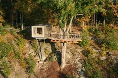 Cliff treehouse by Baumraum