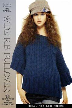 Knit, Wide Rib Pullover