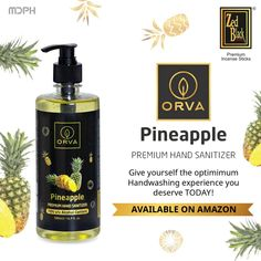 Practice the optimum hand hygiene with alluring tropical fragrance of pineapple.  #ZedBlack #MDPH #fragrance #pineapple #handsanitizer #sanitizer #premium #orva #IncenseSticks #prayer #PrarthnaHogiSweekar #Wednesday #aroma #divine #relax #scent #healing #meditation #pure #positivity #tranquil #mood #dhoop #dhoopsticks #amazon #online #shopping #handwashing Amazon Online, Product Catalogue, Hand Hygiene, Alcohol Content, Healing Meditation, Tropical Fruits, Incense Sticks, Hand Sanitizer, Hand Washing