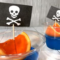 Not only is our jell-o pirate ship recipe perfect for your next pirate party, they're perfect for National Talk Like a Pirate Day! Blue Jello, Orange Jello, Cocktail Drinks, Alcoholic Drinks, Painkiller Recipe, Pirate Day, Jell O, Easy Halloween, Halloween Party
