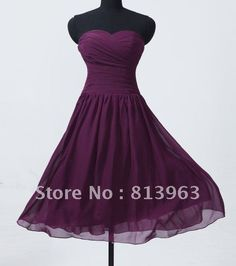 Cheap Price 2013 Custom Made Elegant A Line Sweetheart Knee Length Chiffon Purple Floor Length Chiffon Bridesmaid Dresses-in Bridesmaid Dresses from Apparel & Accessories on Aliexpress.com