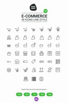 Free 45 E-Commerce icons