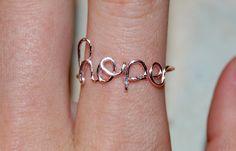 Hope Ring. $8.00, via Etsy.